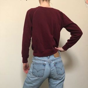 Vintage Sweaters - Perfect soft vintage maroon sweater. Size Small.